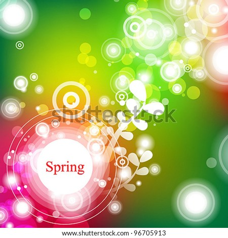 Abstract floral vector background with hand draw elements - stock vector