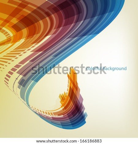 Abstract flow background - stock vector