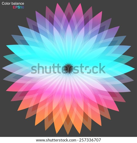 abstract flower background. Vector background for IOS 9 - stock vector