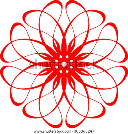 Abstract flower. Flower abstract logo template. Vector icon.  - stock vector