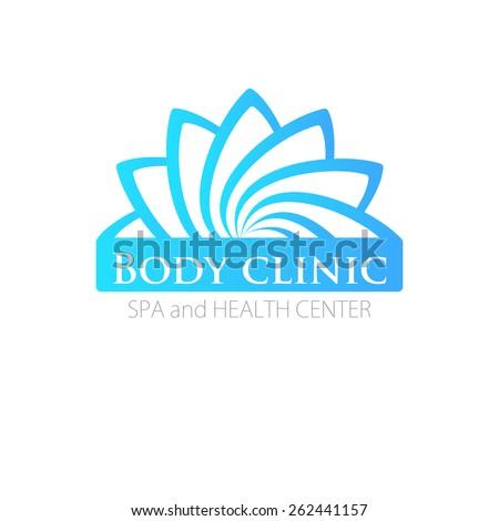 Abstract flower logo template. Vector. For beauty salon, clinic or spa. - stock vector
