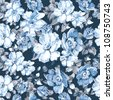 Abstract flower seamless pattern background. Elegance Floral vector illustration. - stock vector