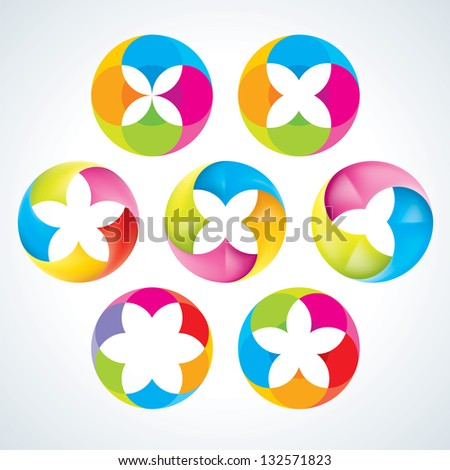 Abstract flower signs.  EPS10 - stock vector