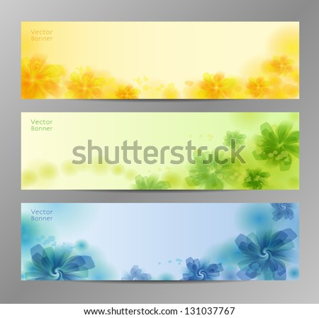 Abstract Flower Vector Background / Brochure Template / Banner. eps 10 - stock vector