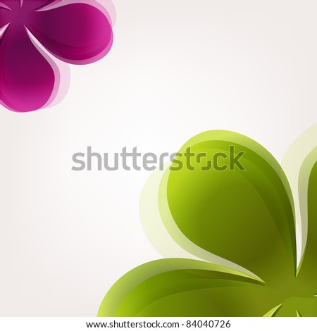 Abstract Flowers, Vector Illustration - stock vector