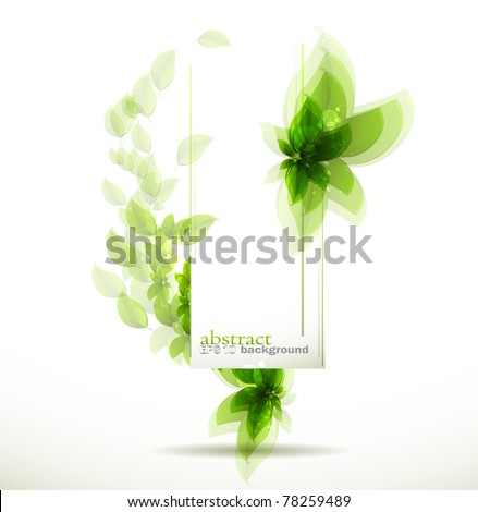 Abstract fly leaves background - stock vector