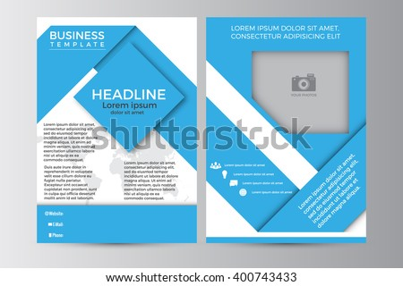 Abstract flyer design background. Brochure template. Can be used for magazine cover, business mockup, education, presentation, editable elements. EPS 10. - stock vector