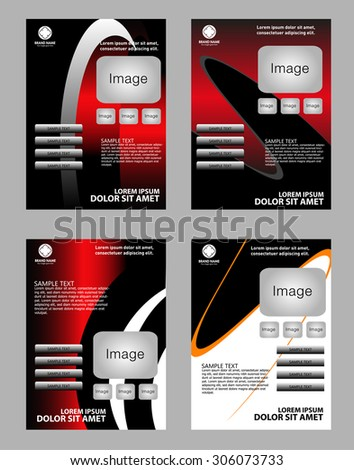 Abstract flyer designs - stock vector