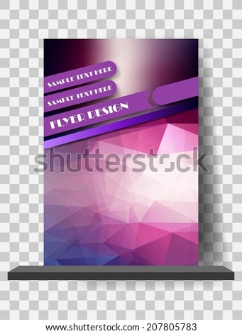 Abstract Flyer Template - stock vector