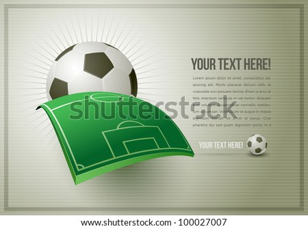 Abstract football (soccer) design template. All elements are layered and grouped in vector file. Easy editable. - stock vector