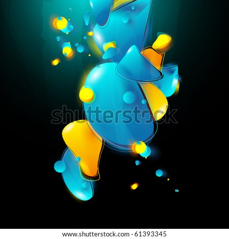 abstract form bubbles in the style of graffiti - stock vector