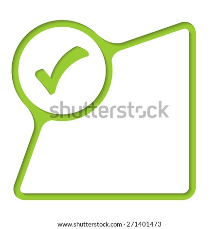 Abstract frame with inner shadow and check box - stock vector