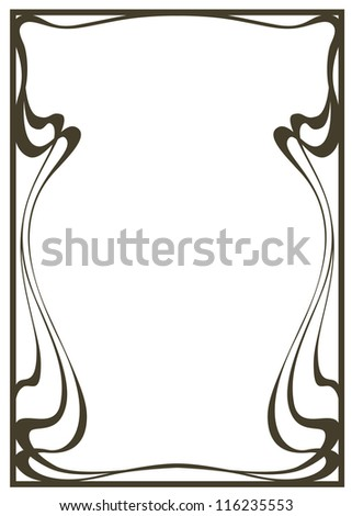 Abstract framework from the bound lines in style art-nouveau - stock vector