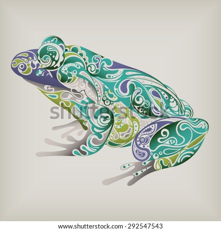 Abstract Frog - stock vector