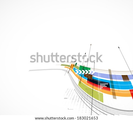 abstract futuristic circuit high computer technology business background - stock vector