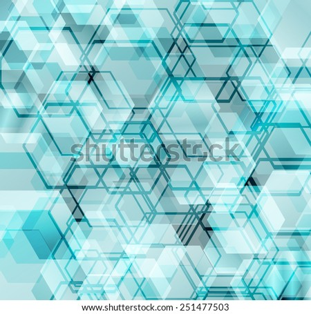 Abstract futuristic digital background with hexagonal shapes. - stock vector