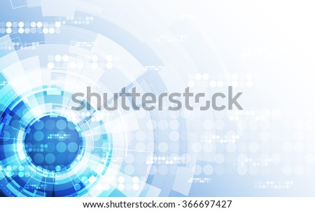 Abstract futuristic digital technology background. Illustration Vector - stock vector