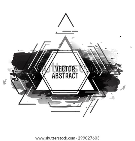 Abstract futuristic frame and black background for business, posters, brochures and posters. Vector. - stock vector
