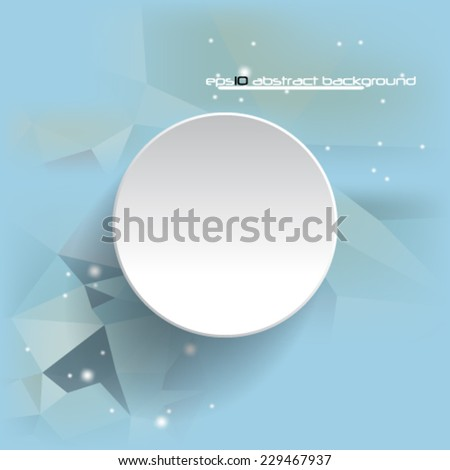 Abstract futuristic  geometric background template design  - eps 10 - stock vector