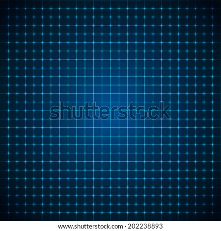 Abstract futuristic grid. Vector illustration. - stock vector