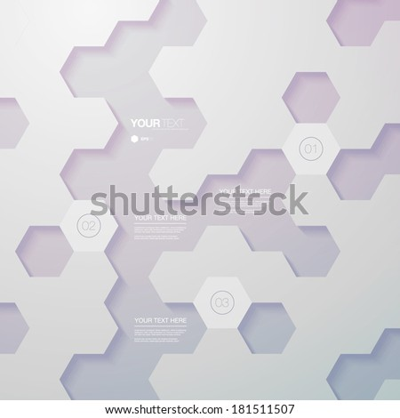 Abstract futuristic hexagon design infographic with numbers and your text  Eps 10 stock vector illustration - stock vector