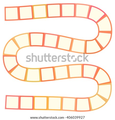 Abstract futuristic maze, pattern template for children's games, white orange squares on white background. Vector - stock vector