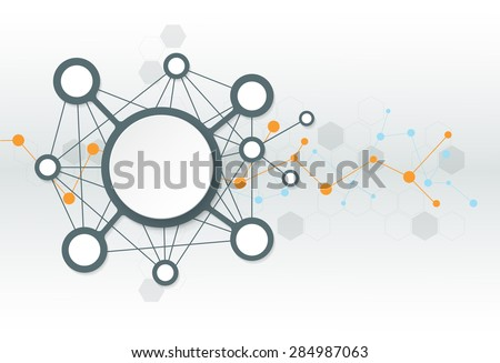 Abstract futuristic - Molecules technology background. Illustration Vector design digital technology concept. Blank space for your design