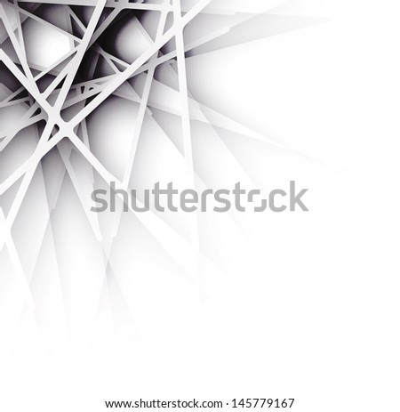 Abstract Futuristic Paper Graphics Business Background - stock vector