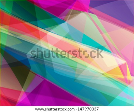 abstract futuristic transparent background with vibrant colors and 3d perspective effect - stock vector