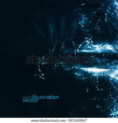 Abstract futuristic vector background, dark art illustration eps10 - stock vector