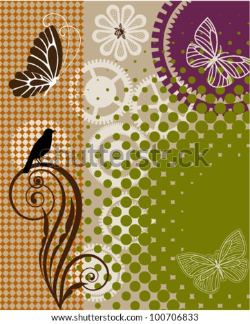 abstract garden - stock vector