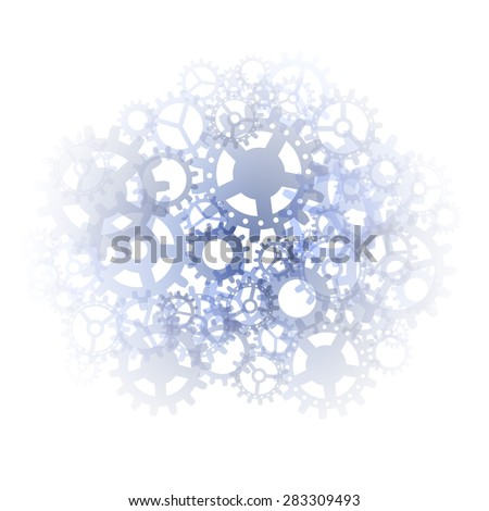 Abstract gears background - inside the machine. Vector illustration. - stock vector