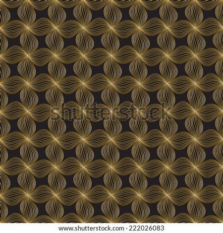 Abstract geometric Art Deco pattern. Seamless vector background. Vintage style floral texture. Vector illustration in art nouveau style. - stock vector