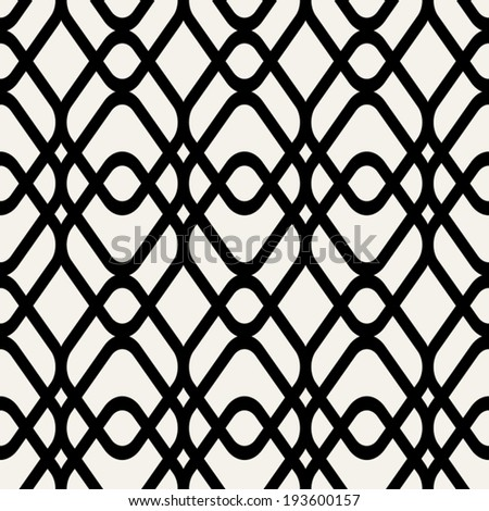 Abstract geometric background, black and white modern seamless pattern, wrapping paper, 50s, 60s, 70s fashion style, colorful trendy fabric, simple ornament, template, layout, samples for design - stock vector