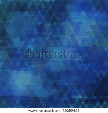 Abstract geometric background  consisting of overlapping triangular elements of various sizes. Vector illustration. - stock vector
