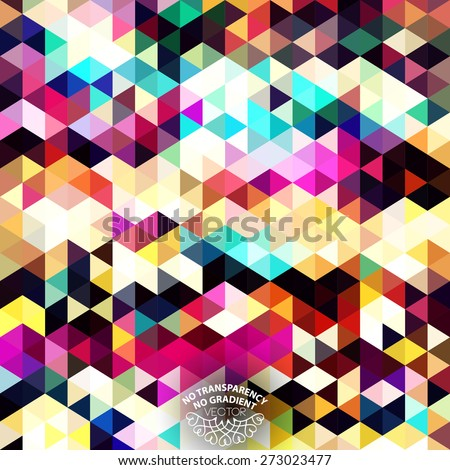 Abstract geometric background design with vibrant color tones - stock vector