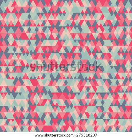 Abstract geometric background for business, web design, print.  Colorful vector triangle seamless pattern. Repeating geometric tiles from color triangles. - stock vector