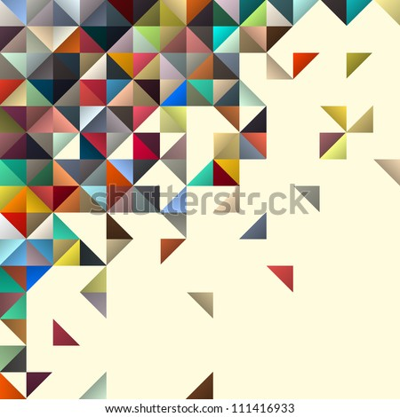 Abstract geometric background for design - stock vector