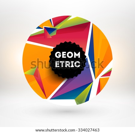 Abstract Geometric Background for Techno Design, Business Presentation or Application Cover Template. - stock vector