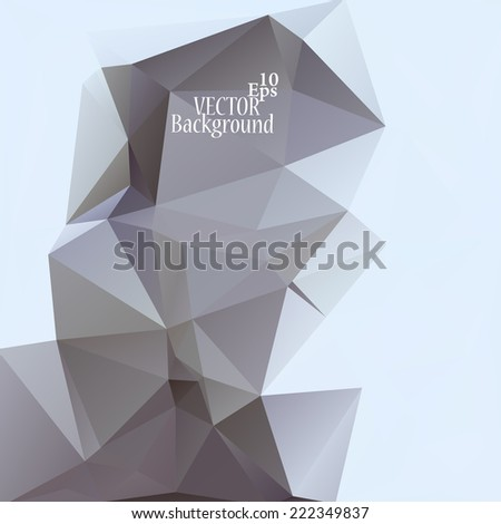Abstract geometric background for use in design - vector illustration - stock vector