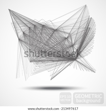 Abstract geometric background made of lines. Vector. - stock vector