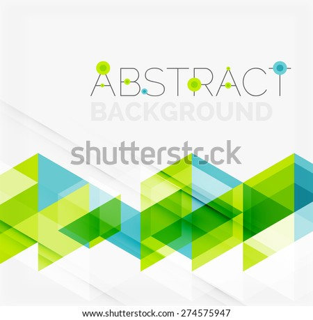 Abstract geometric background. Modern overlapping triangles. Unusual color shapes for your message. Business or tech presentation, app cover template - stock vector