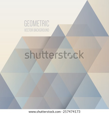 Abstract geometric background, modern triangular design - stock vector