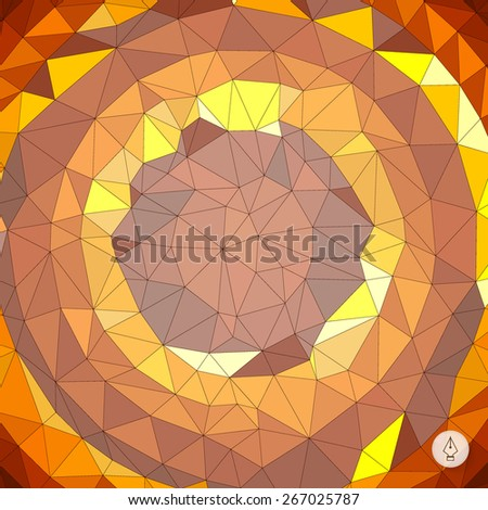 Abstract geometric background. Mosaic. Vector illustration. Can be used for banner, flyer, book cover, poster, web banners.  - stock vector