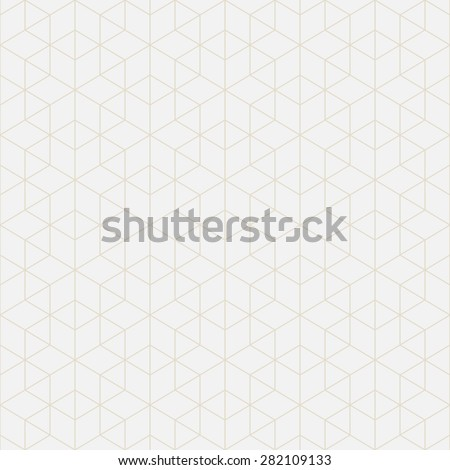 Abstract geometric background of mathematical figures. Hexagons, rhombus, triangles. Seamless vector pattern. Desktop Wallpaper or backdrop for the web design. Light colors - gray and beige. - stock vector