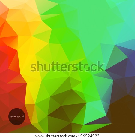 Abstract geometric background of triangular polygons. Eps 10. Vector illustration. - stock vector