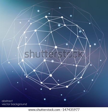 Abstract geometric background. Template for the poster, card, flyer or banner with a gradient of triangles. - stock vector