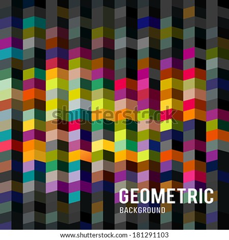 Abstract Geometric background, vector illustration - stock vector