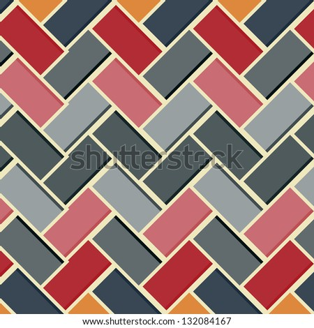 Abstract geometric background with colorful stripes - vector - stock vector