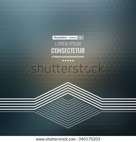 Abstract geometric background with polygons. Info graphics composition with geometric shapes.Retro label design. Vector illustration. - stock vector